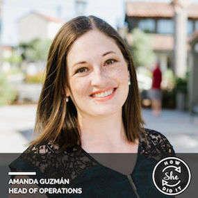 Amanda Guzmán ◆ Head of Operations, Sheryl Sandberg & Dave Goldberg Family Foundation