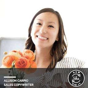 Allison Carpio ◆ Sales Copywriter {Freelance}